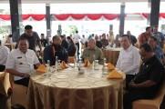 Pimpinan Komisi VII DPR RI Alex Noerdin, dalam kesempatan hadir pada giat Coffee Morning Jajaran Pemerintah Kabupaten Musi Banyuasin Dengan Perusahaan Kontraktor Kontrak Kerja Sama (K3S) di Kabupaten Musi Banyuasin.