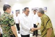 Dewan Pembina GAPKI Sumsel dan Dewan Pengarah Andalan Forum, Harry Hartanto, Rabu (15/1/2020) di sela audiensi bersama Bupati Muba.