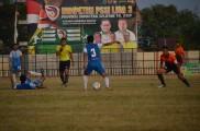 Pemain Ps Bank Sumsel Babel saat berjibaku menghadapi Muba United