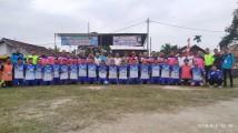 Karang Taruna Kelurahan Bayung Lencir Kecamatan Bayung Lencir menggelar turnamen Sepak Bola antar RT. Hari ini, Selasa (6/8).