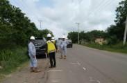 Perbaikan jalan nasional dari Palembang hingga perbatasan Jambi dilakukan besar -besaran tahun ini.
