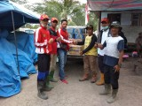 Sekelompok Pemuda 20an Tahun Dari PPI Bayung Lencir Berikan Bantuan Ke Lokasi Karhutlah