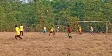 Turnamen U35 Desa Lais berlangsung di lapangan Spora Simpang Kerang